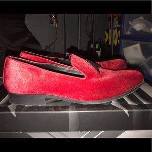 Other - Red suede dress shoes